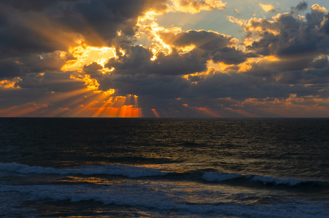 Sunset in Gaza, Palestine