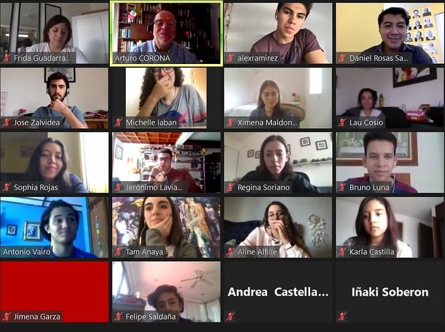 """""""La objetividad no existe"""": Daniel Rosas en conferencia con alumnos de Comunicación"""