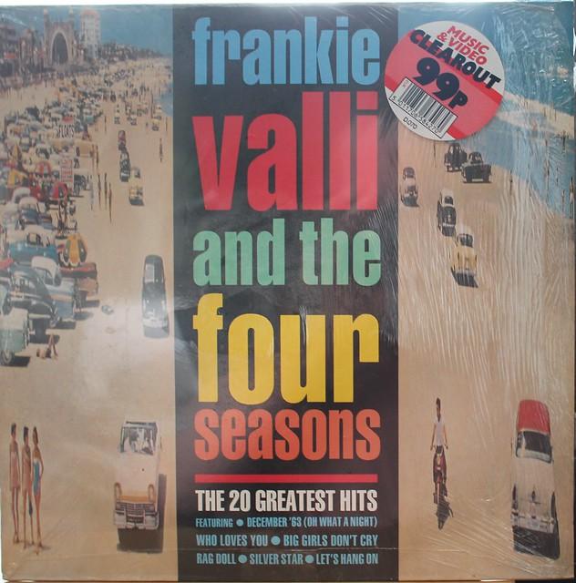 20 Greatest Hits Frankie Valli & The Four Seasons Vinyl Album 1978