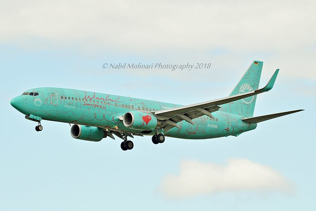 SunExpress Germany D-ASXO Boeing 737-8HX Winglets cn/29649-2515 Painted in