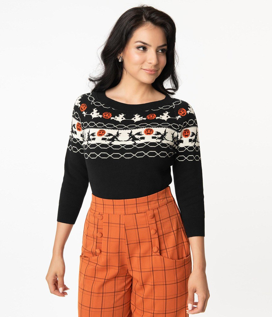 halloween sweater unique vintage