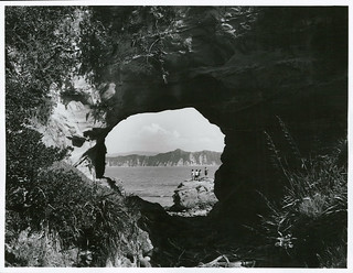 "Auckland Province - Tolaga Bay Publicity Caption: ""Hole in the Wall"", Cooks Cove, Tolaga Bay. 