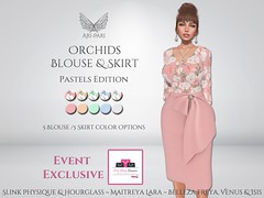 [Ari-Pari] Orchids Blouse & Skirt - Pastels Edition