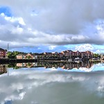 Cloud reflections at Preston Docks