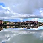 Cloud reflections at Preston Docks