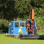 Cleaning the canal at Preston