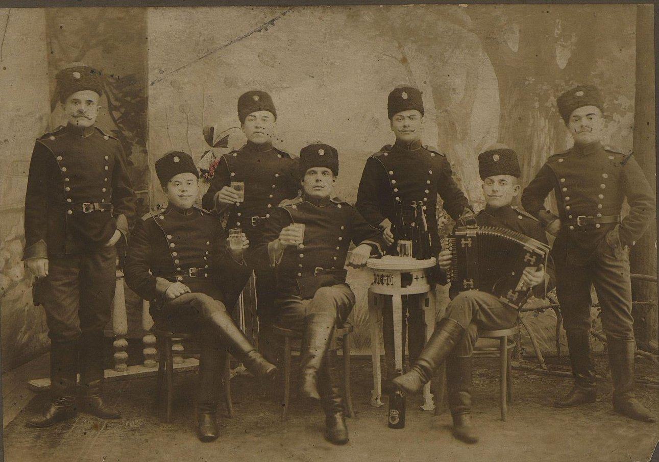 1914. Солдаты Заамурской сапёрной роты. Харбин