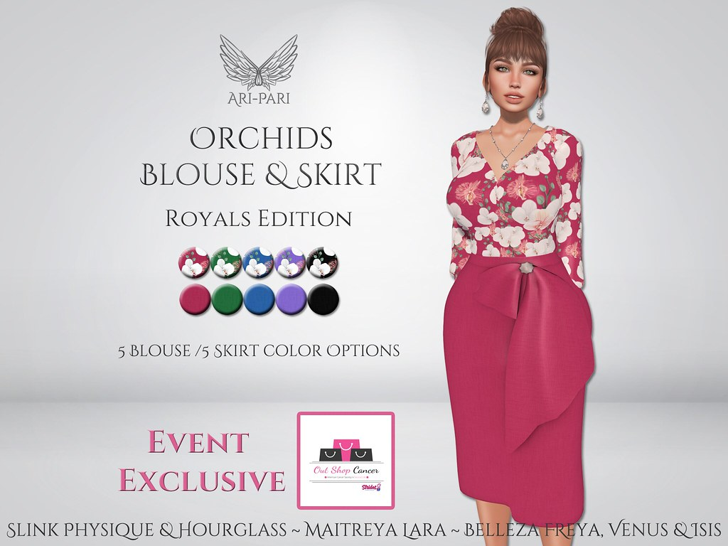 [Ari-Pari] Orchids Blouse & Skirt - Royals Edition