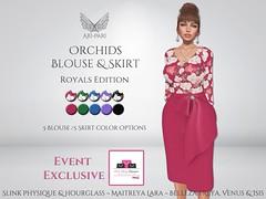 [Ari-Pari] Orchids Blouse & Skirt - Royals Edition