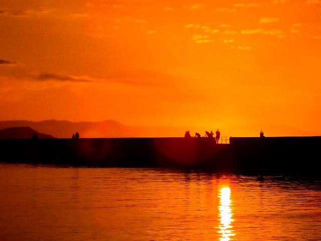 Sunset in Chania--Crete