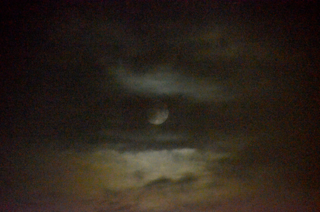 Full Moon Between Clouds, September 29, 2020 2 full