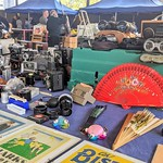 Vintage camera stall at Preston Market