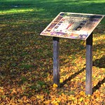 Autumnish information board at Haslam Park, Preston
