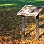 Autumnish information board at Haslam Park, Preston