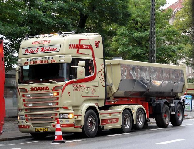 Scania R580 v8 AW74047 tarmac tipper