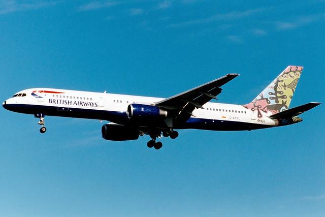 British Airways | Boeing 757-200 | G-CPEL | Animals and Trees | London Heathrow