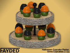 FAYDED - Halloween Cupcake Platter