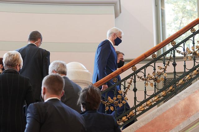 30.09.2020. Ministru prezidenta Krišjāņa Kariņa un Francijas prezidenta Emanuela Makrona divpusējā tikšanās
