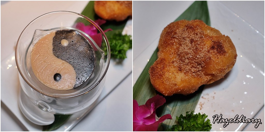 Wan Hao Chinese Restaurant-Black Sesame & Peanut Sauce served with custard puff