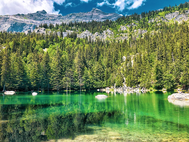 Summer day in the French Alps.