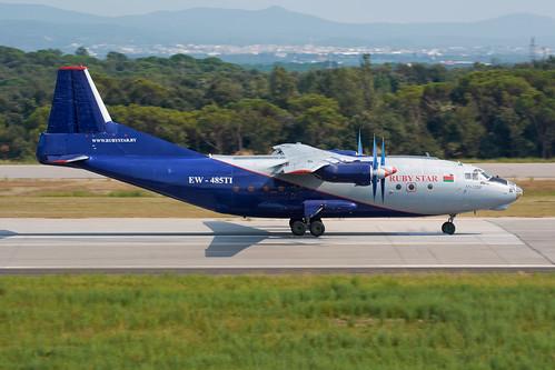 EW-485TI   Rubystar Airways   Antonov An-12BP   Girona
