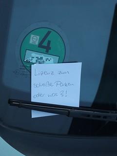 … mit der Lizenz zum shice parken