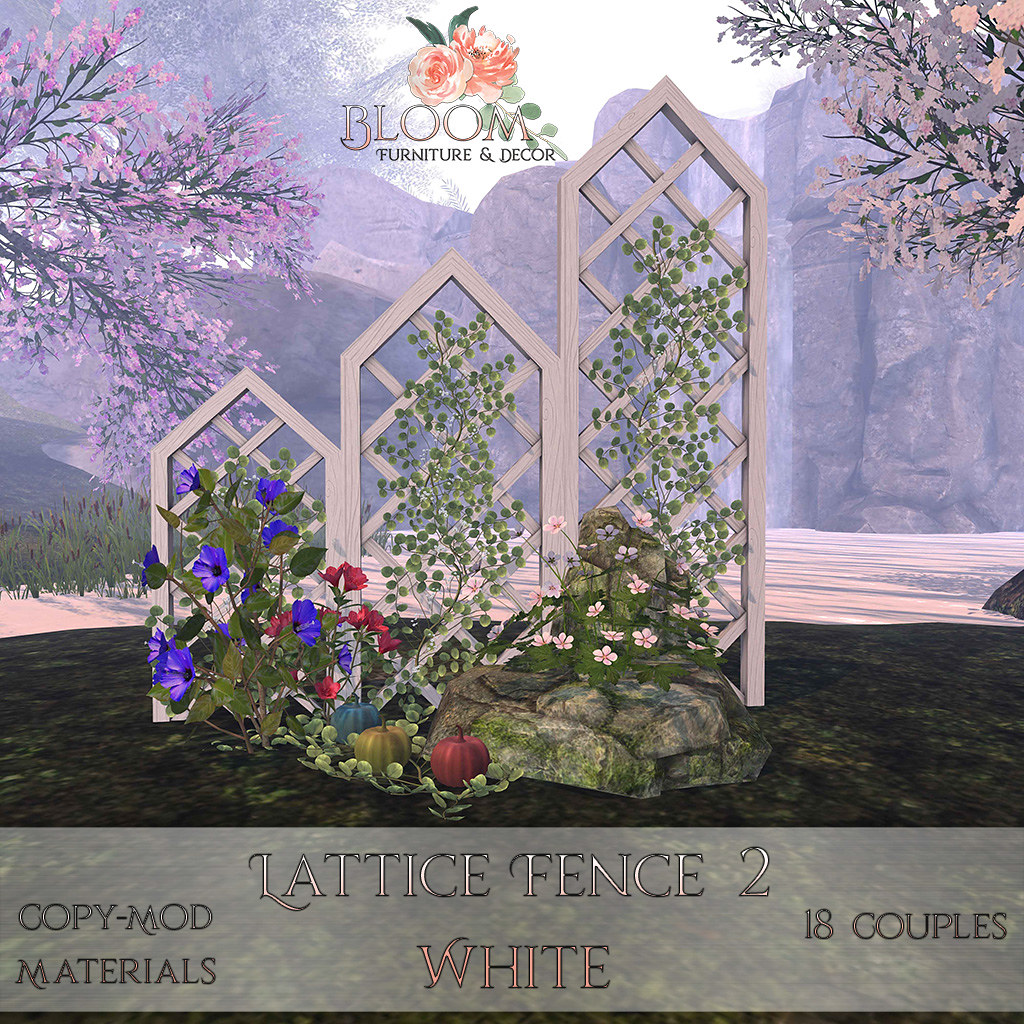 Bloom! – Lattice Fence 2 WhiteAD