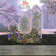 Bloom! - Lattice Fence 2 WhiteAD