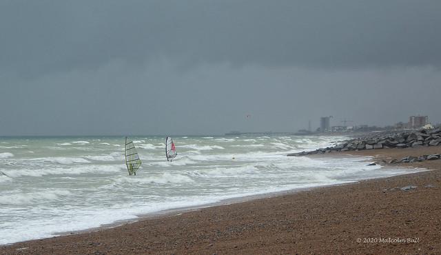 Windsurfers - Shoreham Beach