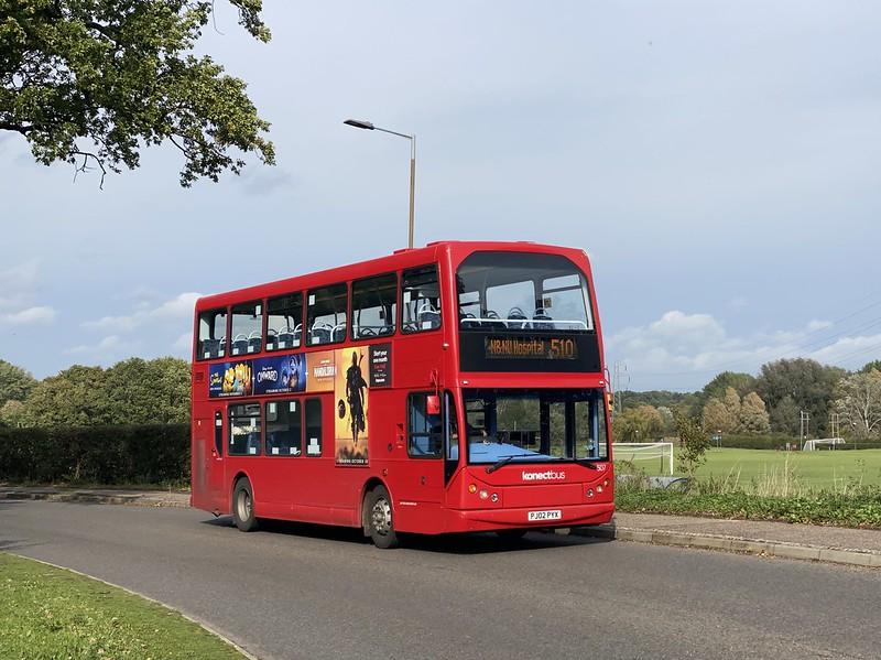 Konectbus 507 PJ02 PYX – 510 – Costessey P&R to NNUH