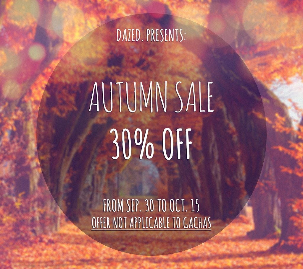 AUTUMN SALE @ DAZED.