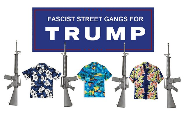 Trump Gives Orders to Armed Street Thug Supporters