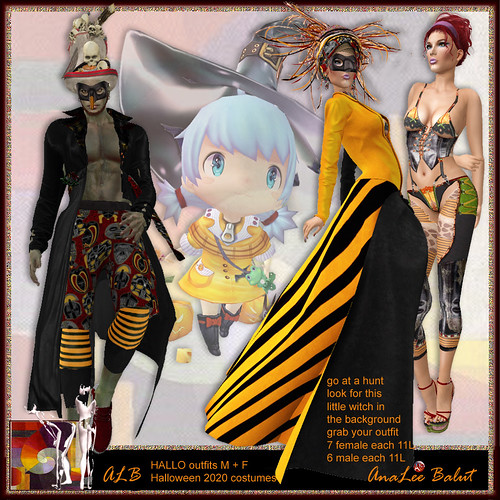 ALB HALLO outfits F+M Halloween 2020 by AnaLee Balut