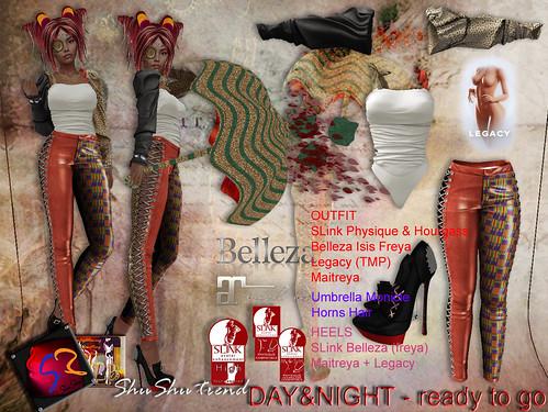 ShuShu DAY&NIGHT outfit Halloween 2020