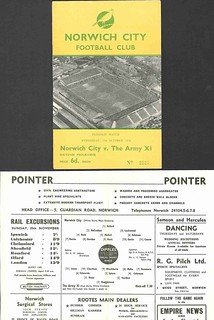 Norwich City v The Army X1 1956-7