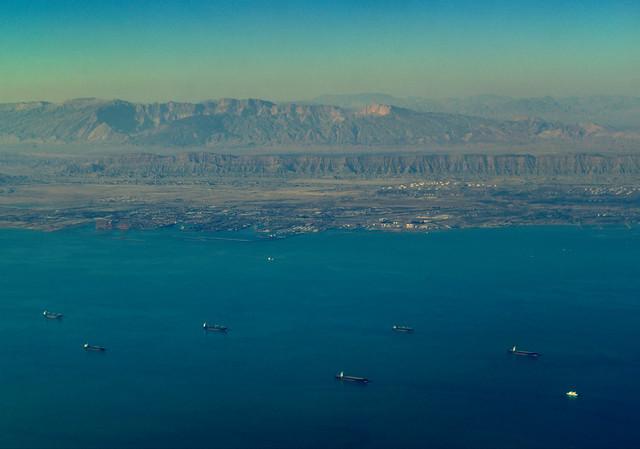 Strait of Hormuz traffic jam, Persian Gulf, Iran