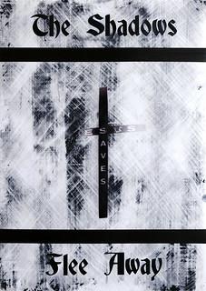 Zavier Ellis 'And the Shadows Flee Away (Saves) I', 2020 Acrylic on digital gloss print 42x29.7cm