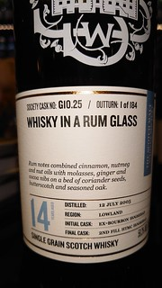 SMWS G10.25 - Whisky in a rum glass