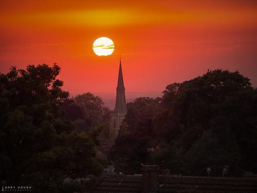 sunset red orange church princesrisborough olympus em10 andyhough andyhoughphotography sky evening