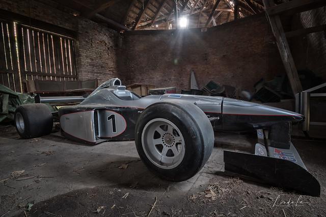 Abandoned racing car