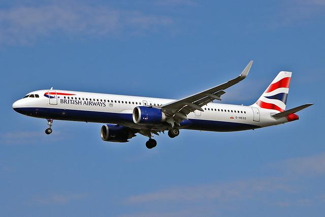 G-NEOS Airbus A.321-251NX British Airways LHR 22-09-20