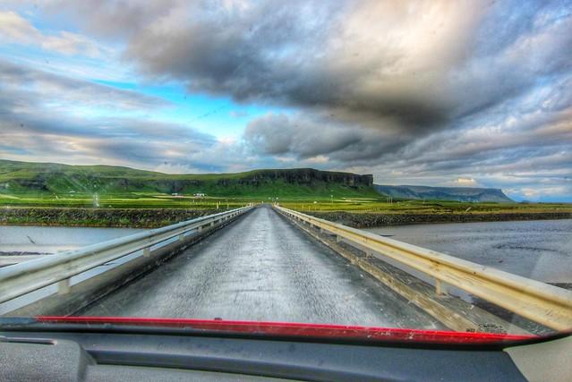 Iceland - Iceland ~ Landmannalaugar Route ~  Ultramarathon is held on the route each July -  Crossing Bridge