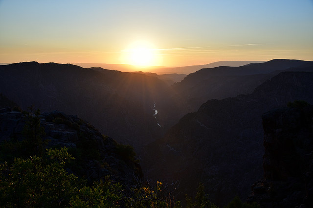 Sunset at Black Canyon of the Gunnison National Park