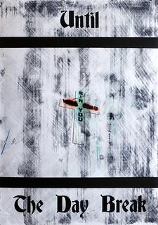 Zavier Ellis 'Until the Day Break (Sin) I', 2020 Acrylic on digital gloss print 42x29.7cm