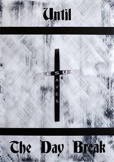 Zavier Ellis 'Until the Day Break (Saves) I', 2020 Acrylic on digital gloss print 42x29.7cm