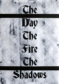 Zavier Ellis 'The Day The Fire The Shadows', 2020 Acrylic on digital gloss print 42x29.7cm