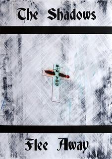 Zavier Ellis 'And the Shadows Flee Away (Sin) I', 2020 Acrylic on digital gloss print 42x29.7cm