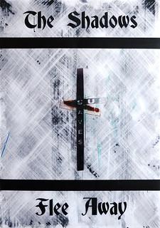 Zavier Ellis 'And the Shadows Flee Away (Sin Saves) I', 2020 Acrylic on digital gloss print 42x29.7cm