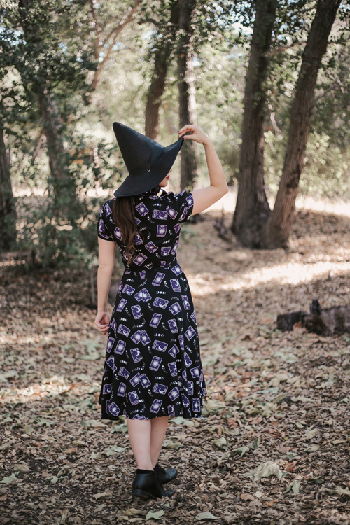 ModCloth x Collectif In the Cards Swing Dress