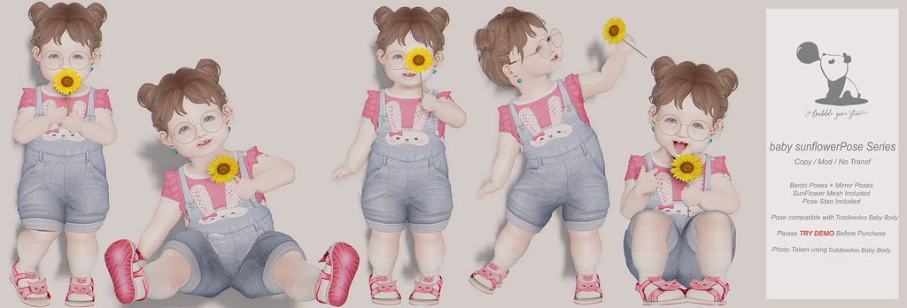 [B.G] Baby Sunflower Pose Set